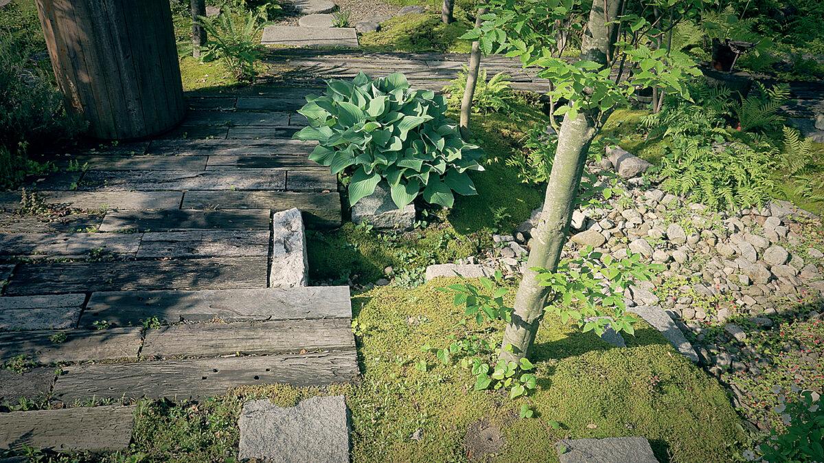 新潟 枕木ガーデン